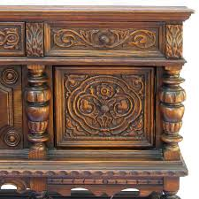 antique carved oak sideboard buffet server ruby george for