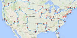 50 States Map With Capitals by One Guy Figured Out How To Plan The Best Road Trip Ever Huffpost