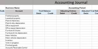 accounting general journal template accounting journal template
