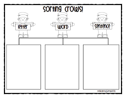 scarecrow letter word sentence sort pdf kindergarten pinterest