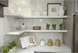 Floating Shelves Kitchen by Gray Floating Shelves Design Ideas