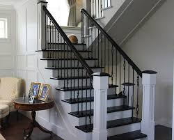 Wood Banisters And Railings Indoor Stair Railings Indoor Stair Railings Gallery Staircase