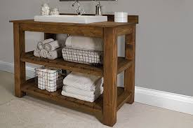 Rustic Bathroom Cabinets Vanities - rustic bathroom vanity buildsomething com