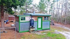 awesome completely off grid tiny house only cost 4 500 watch