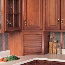 garage door for kitchen cabinet omega national products 24 inch corner appliance garage cherry a0100cuf1