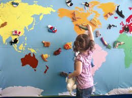 Map Great Wall Of China by Map With Little Felt Animals And Landmarks Like The Great Wall Of