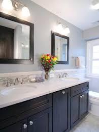 Mirrored Subway Tile Backsplash Bathroom Transitional With by Geometric Marble Bathroom Backsplash Transitional Bathroom