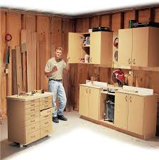 Woodworking Plans Garage Cabinets by Simple All Purpose Shop Cabinets Popular Woodworking Magazine