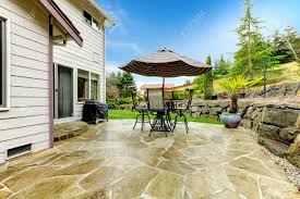 Concrete Patio Table Set by Concrete Floor Cozy Patio Area With Iron Table Set And Patio