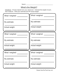 weight worksheet 2 what u0027s the weight