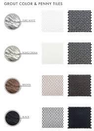 Best 25 Penny Round Tiles by The Difference Grout Color Can Make To Your Tiles Emily Henderson
