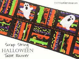 pattern scrappy halloween table runner quilt u2013 faith and fabric