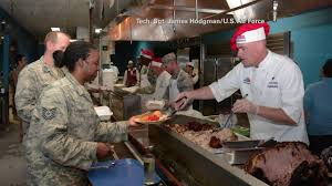 thanksgiving turkey for dummies us service members out of country treated to turkey dinner on