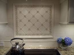 Kitchen Backsplash Metal Medallions Glass Subway Tiles Kitchen Home Decorating Interior Design With