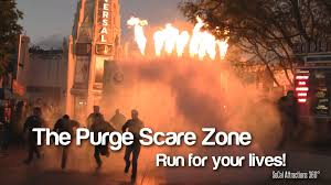 hd the purge scare zone halloween horror nights youtube