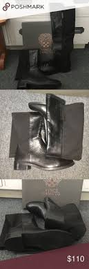 womens stretch boots size 11 womens black leather vince camuto karita the knee boots