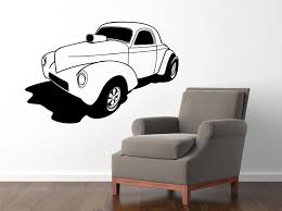 wall decals stickers home decor home furniture diy hot rod muscule car 580x870mm vinyl wall sticker decal
