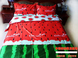 Quilted Duvet Cover King Aliexpress Com Buy Red Green Watermelon Bedding Set King Size