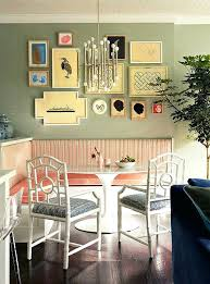 kitchen nook decorating ideas kitchen nook wall decorating ideas pink upholstery adds vintage