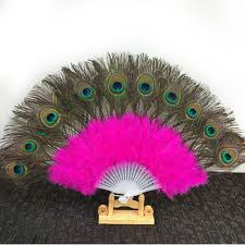 feather fans 5pcs lot 11 colors available peacock feather fans carnival