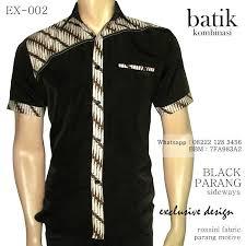 Desain Baju Batik Pria 2014 | kemeja batik kombinasi seragam batik elegan grosir batik