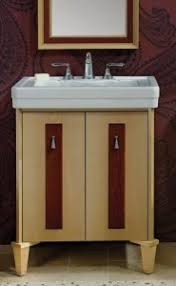 spice up your modern bathroom vanities with dramatic wood accents