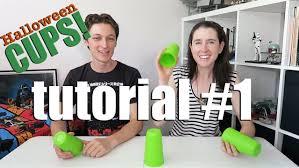 Halloween Cups Halloween Cups Tutorial 1 Youtube
