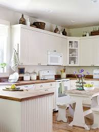 kitchen on top of cabinets beaded board cabinets and weathered wood countertops set the