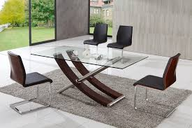 Dining Table Contemporary Glass Dining Table Pythonet Home - Modern glass dining room furniture
