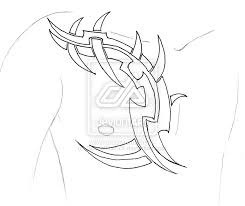 tribal chest by scarletrainxx on deviantart rib for