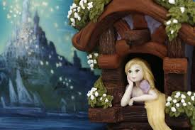 rapunzel lanterns painted cake cake olga danilova