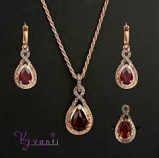 red stones gold necklace images New arrival fashion women vintage antique gold red simulated stone jpg
