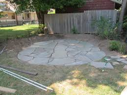 stone patio how to install a flagstone patio with irregular stones diy