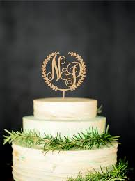 monogram cake toppers for weddings wooden monogram cake topper custom initial cake topper wedding