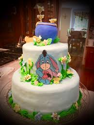 Flowers And Friends - pooh and friends baby cake cakecentral com