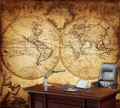 20 best collection of old world map wall art wall art ideas world map wall mural vintage old map of the world 1733 for old world map wall