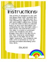 day and night sky worksheets for kindergarten day and night