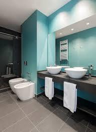 modernes badezimmer grau badezimmer bilder grau aqua fliesen doppelwaschtisch runde