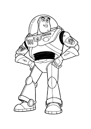 coloring decorative buzz coloring pages lightyear print