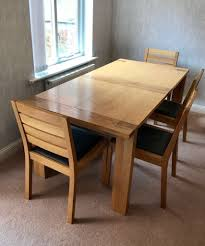 Dining Table 4 Chairs And Bench M U0026s Sonoma Oak Extending Dining Table 4 Chairs Bench In