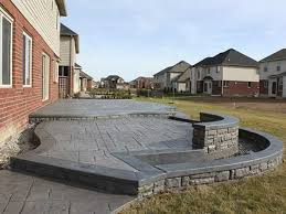 Stamped Concrete Patio Design Ideas by Stamped Concrete Patio Ideas Christmas Lights Decoration