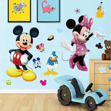 Mickey Mouse Room Decor Diy Mickey Mouse Minnie Wall Sticker Boys Room Girls Room