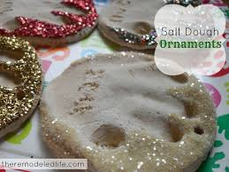 the remodeled diy salt dough print ornaments