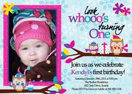 Birthday Card Invitation Ideas Owl 1st Birthday Invitations Ideas U2013 Bagvania Free Printable