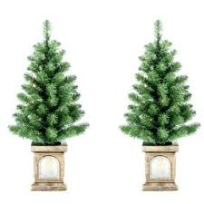 home hardware 2 pack 3 prelit twinkle porch trees