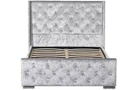 dorchester led winged headboard crushed velvet diamante studded