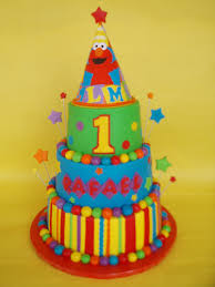 elmo party hat 1st birthday cake a photo on flickriver