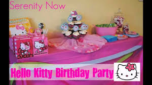 simple birthday decoration at home cute hello kitty party decorations ideas youtube