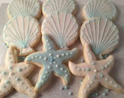 seashell shaped cookies seashell theme etsy