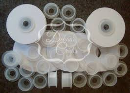 empty ribbon spools 12 1 2 or 5 8 empty ribbon spools plastic with or without